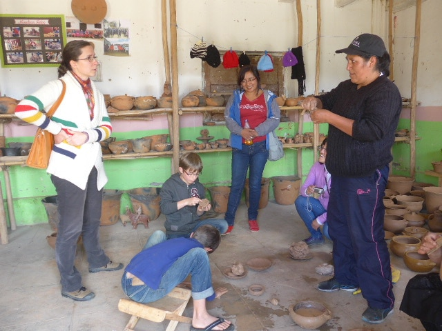 Huancas, pottery village
