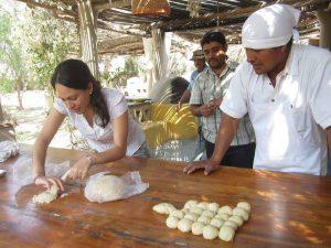 Brot backen im Norden von Peru