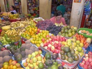 Fruits on the farmers market, Chachapoyas