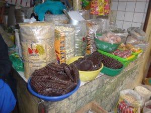 Chocolat on the market Chachapoyas.