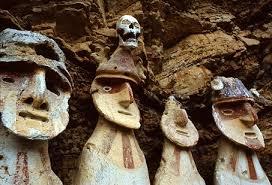 Detail eines sarcophages von Karajia, Amazonas.