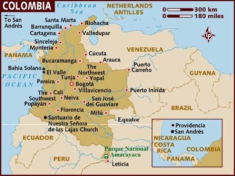 Carte de la Colombie, infos pratiques Colombie