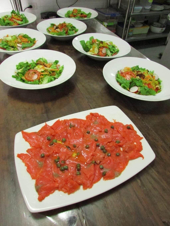 Salad and Smoked Salmon