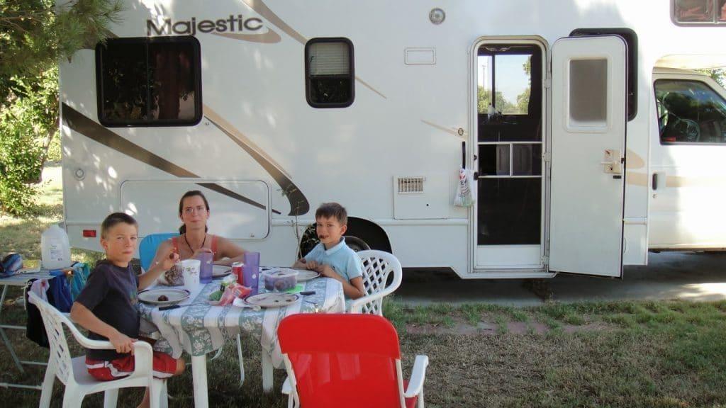 Voyage en camping car, Voyage avec enfant