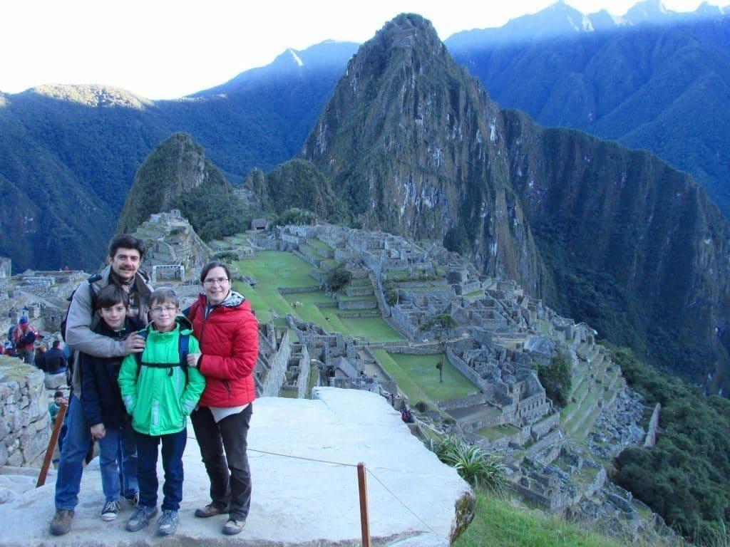 Famille Capel au Machu Picchu