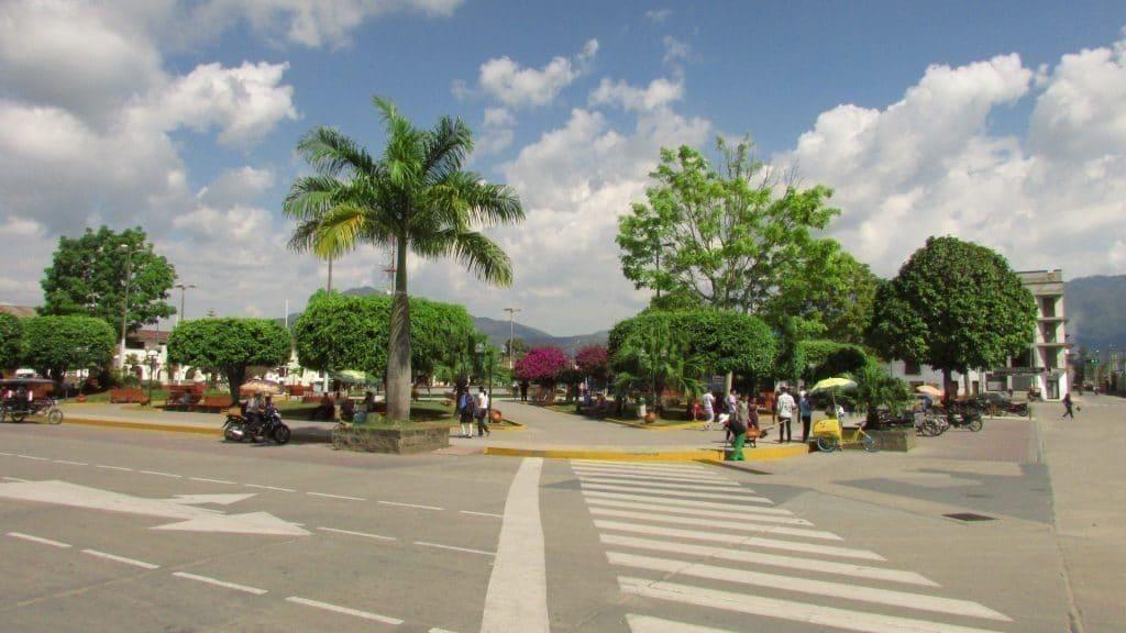 Plaza de Armas, Moyobamba Nord du Pérou mois de voyage