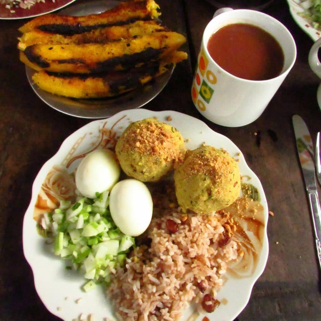 Frühstück in Chazuta