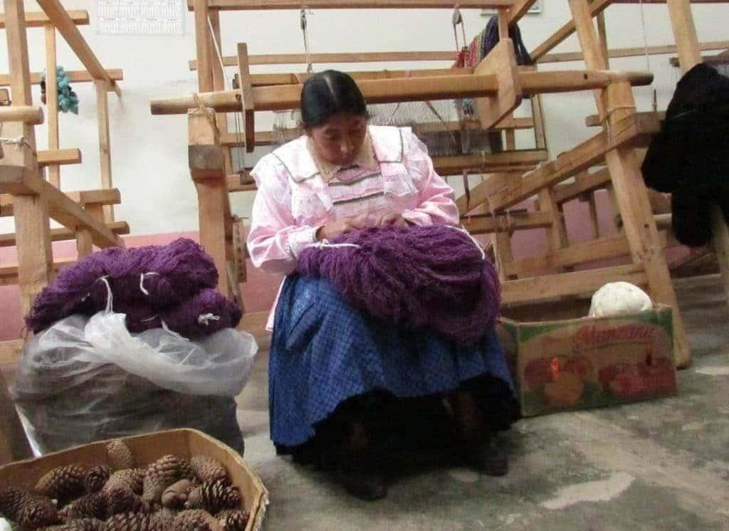 Tissage traditionnel Granja Porcon