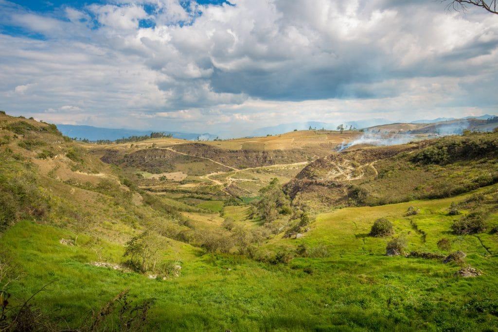 Landschaft in Luya Nord-Peru