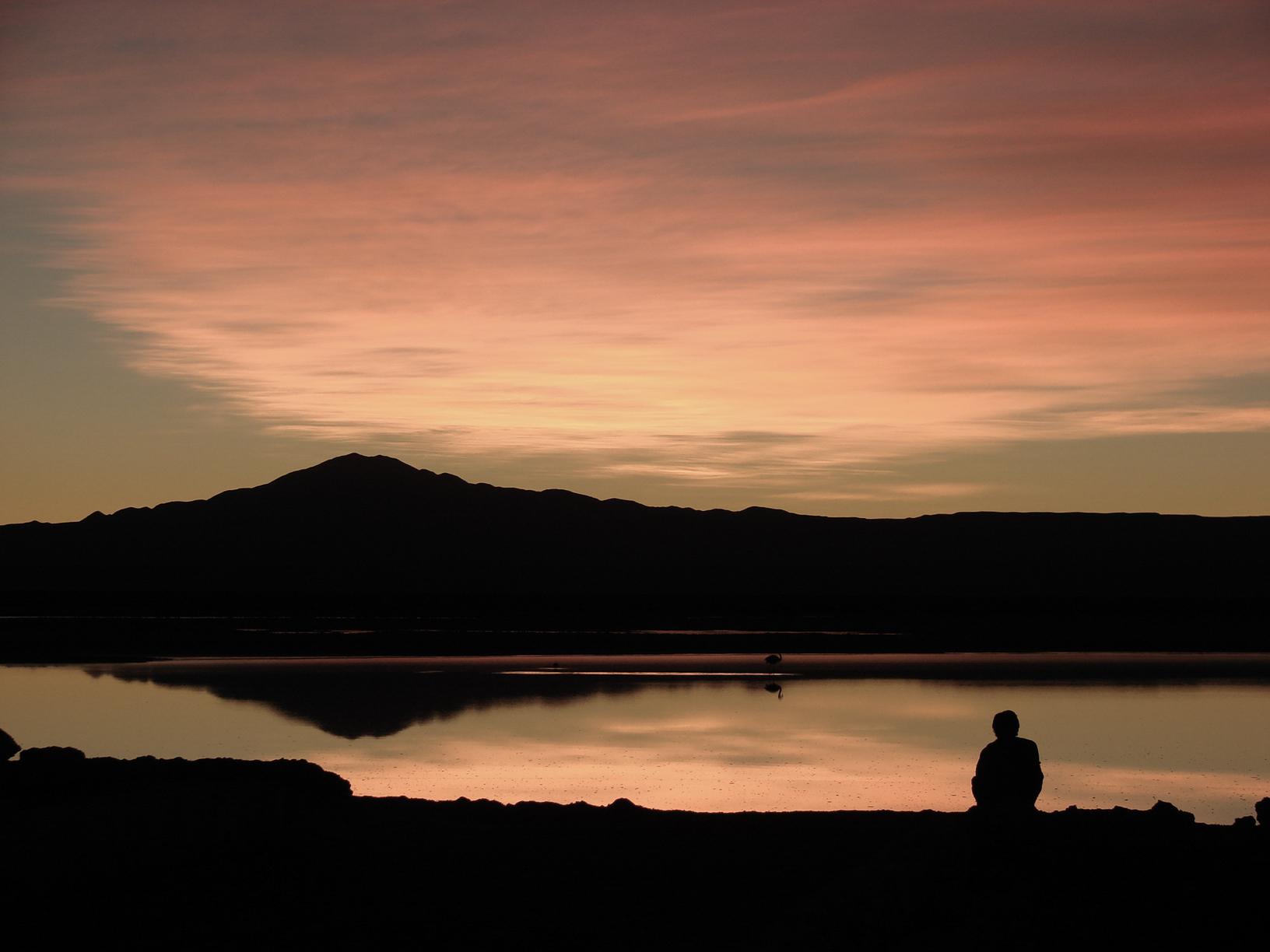 Sonnenuntergang Atacama-Wüste