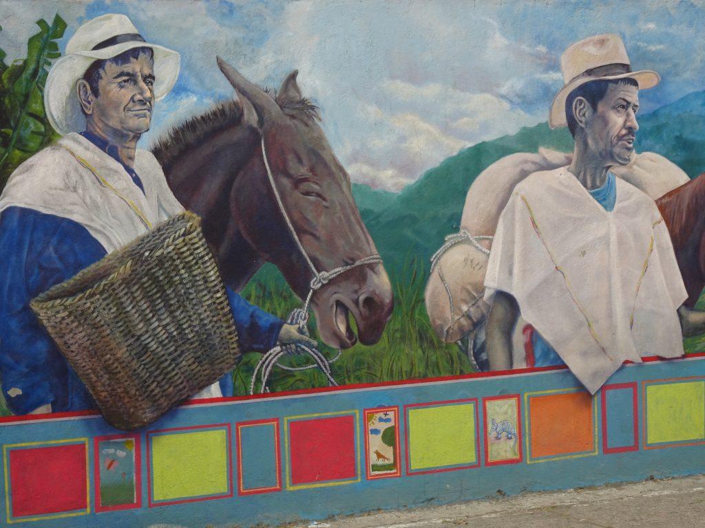 Traditionnelle Aktivitäten in Kolumbien